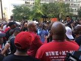 Colin Kaepernick Supporters Rally at NFL Offices